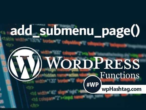 تابع add_submenu_page